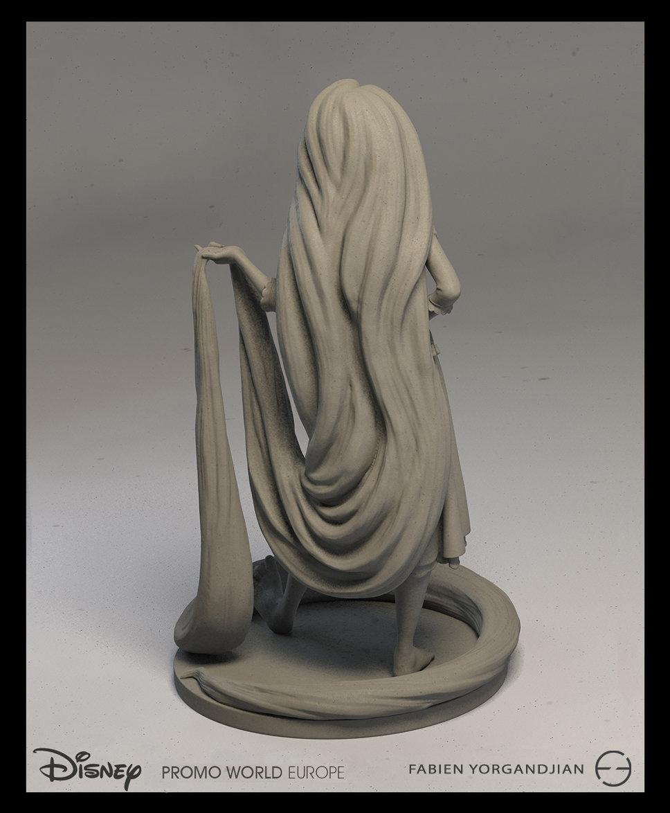 Fabien yorgandjian disney sculpt rapunzel 04