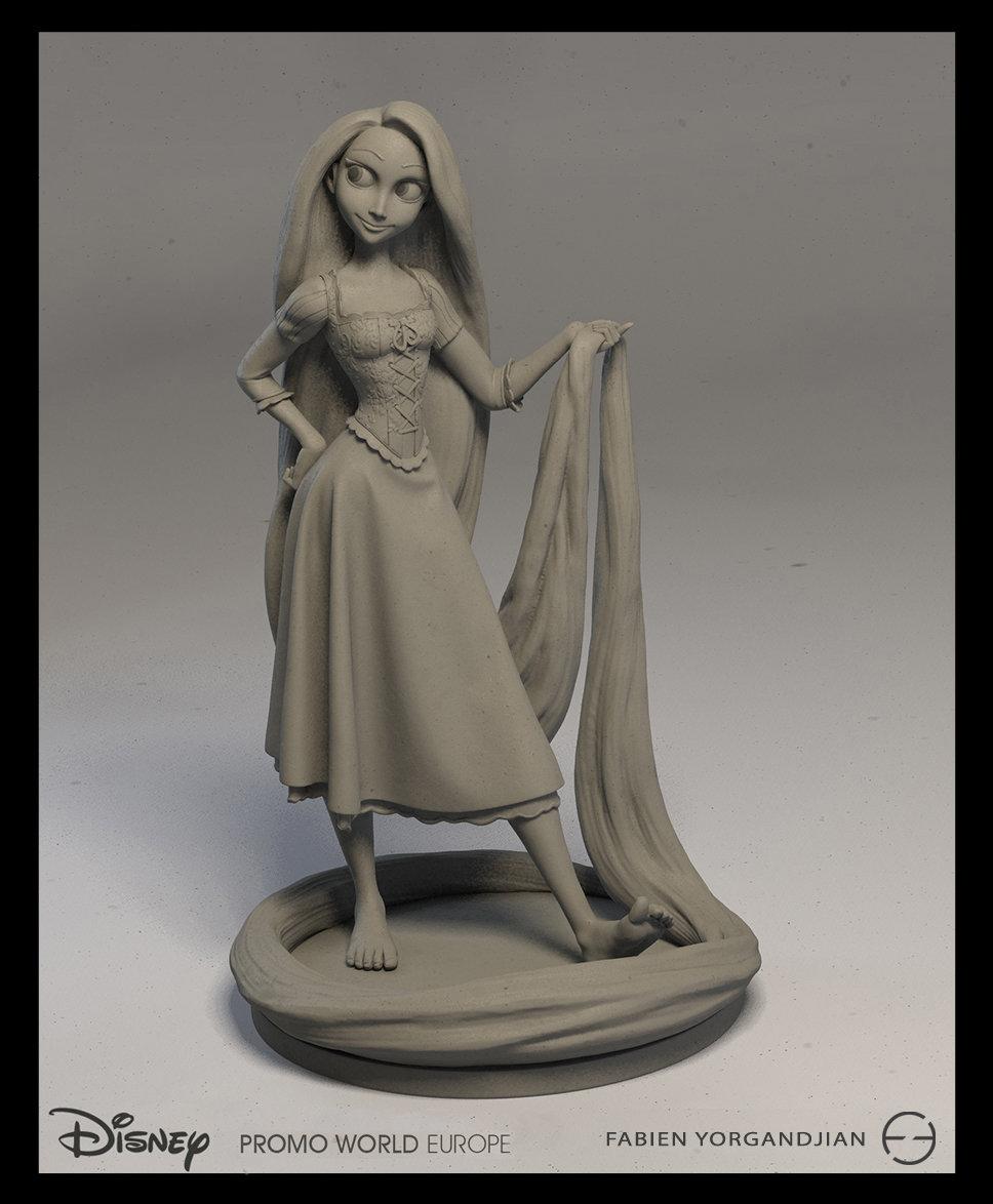 Fabien yorgandjian disney sculpt rapunzel 01