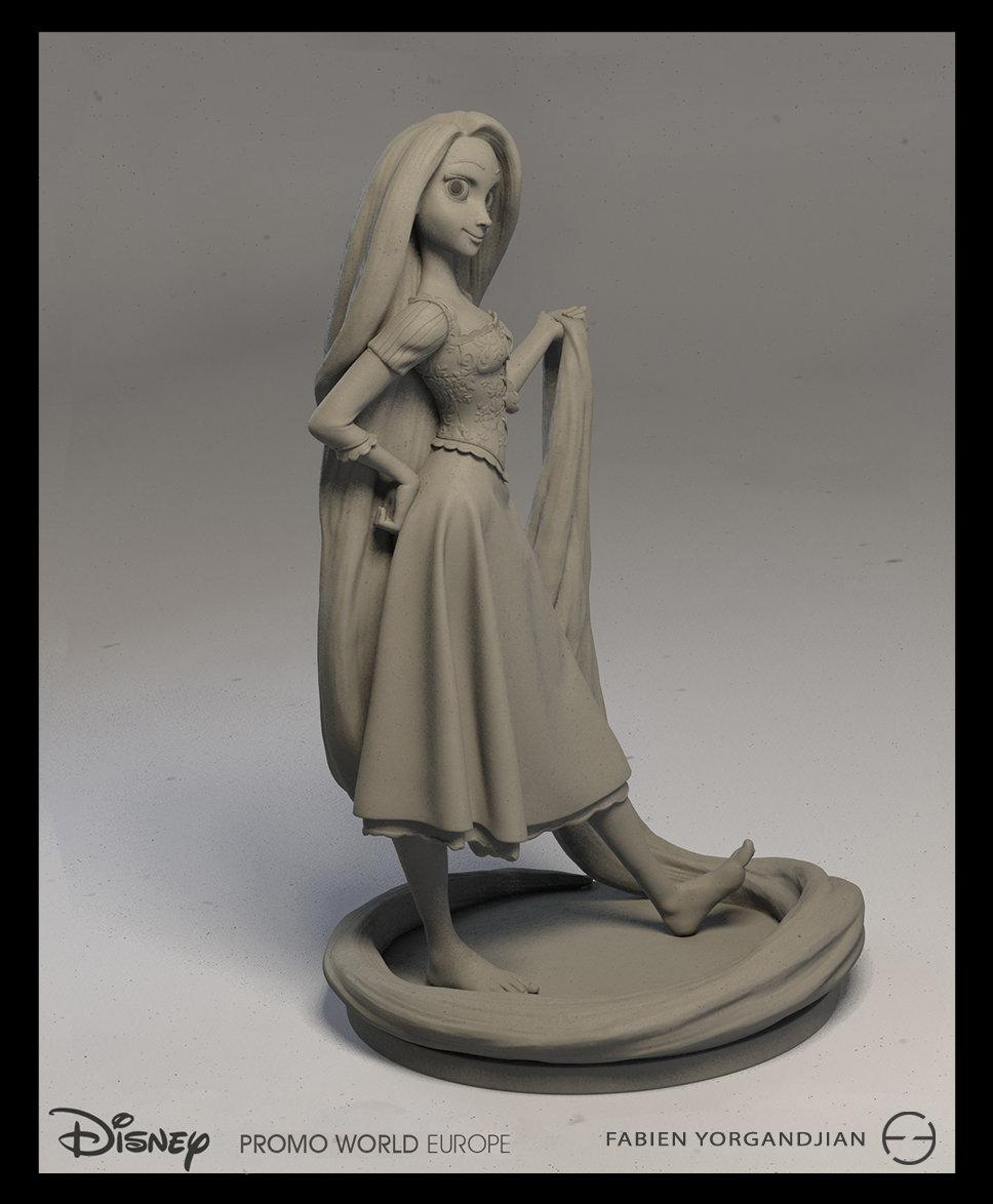 Fabien yorgandjian disney sculpt rapunzel 02