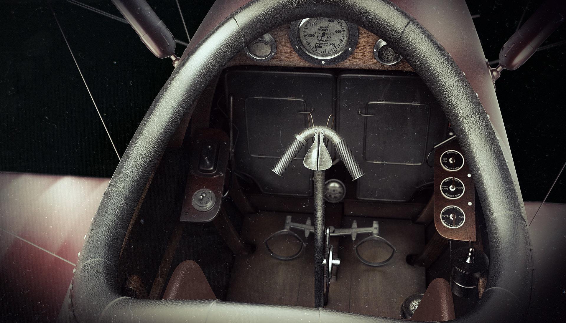 Alexandr novitskiy pfalz diii cockpit