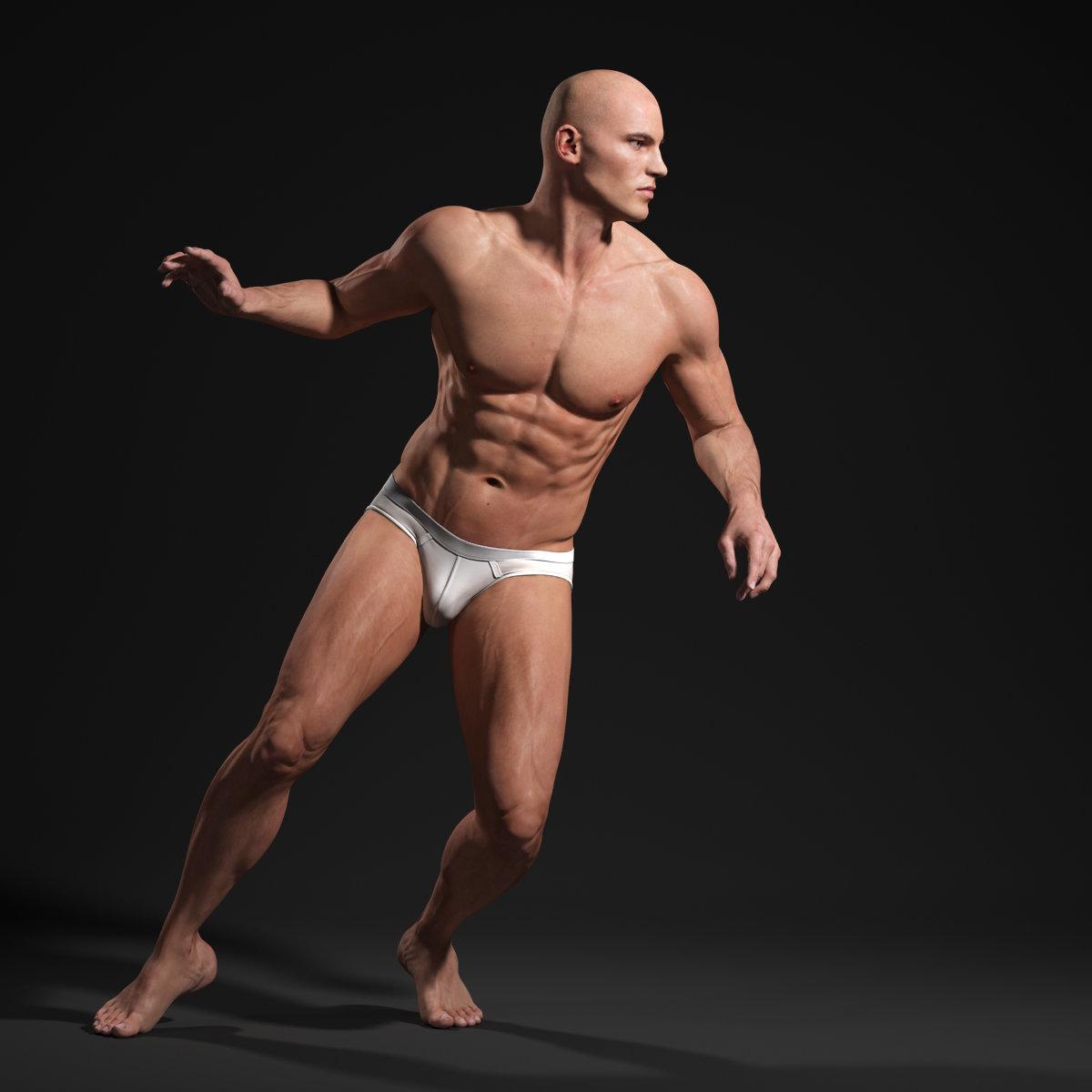 ArtStation - Male Body - Anatomy Study, Andor Kollar