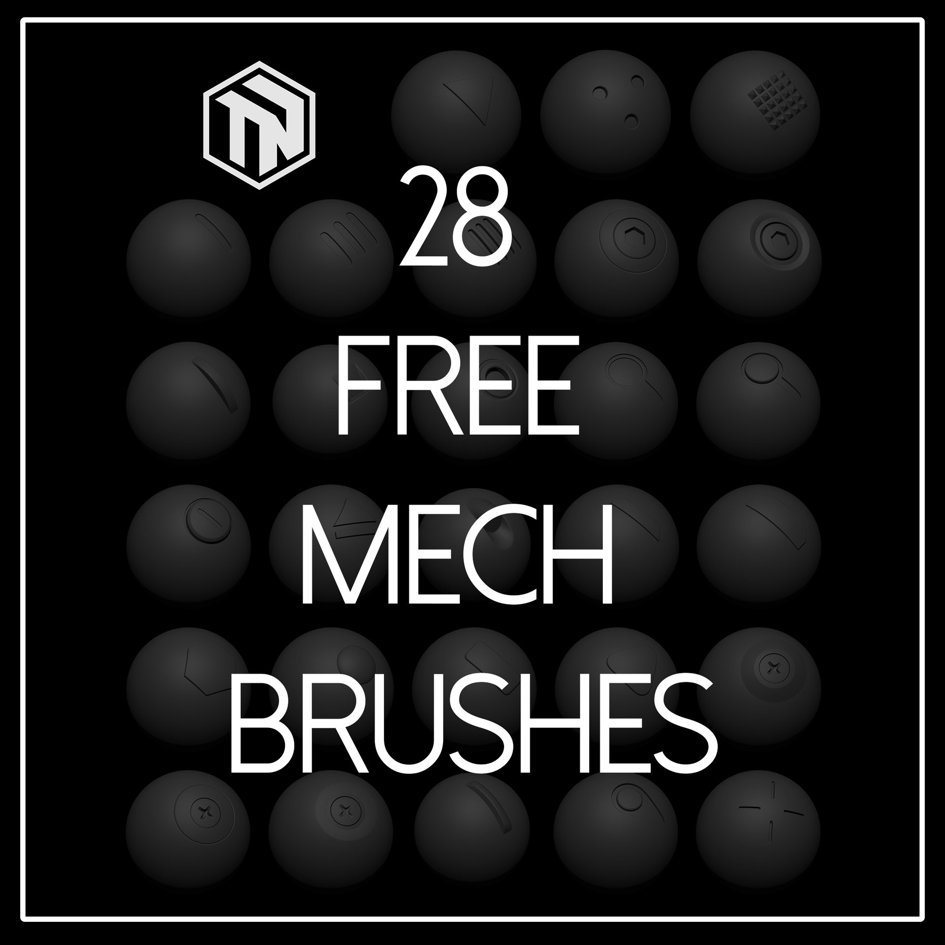 artstation zbrush 28 free mech brushes tom newbury
