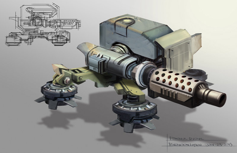 Brandon luyen conceptart drone panzer
