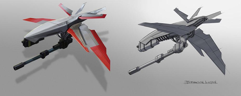 Brandon luyen conceptart drone recon