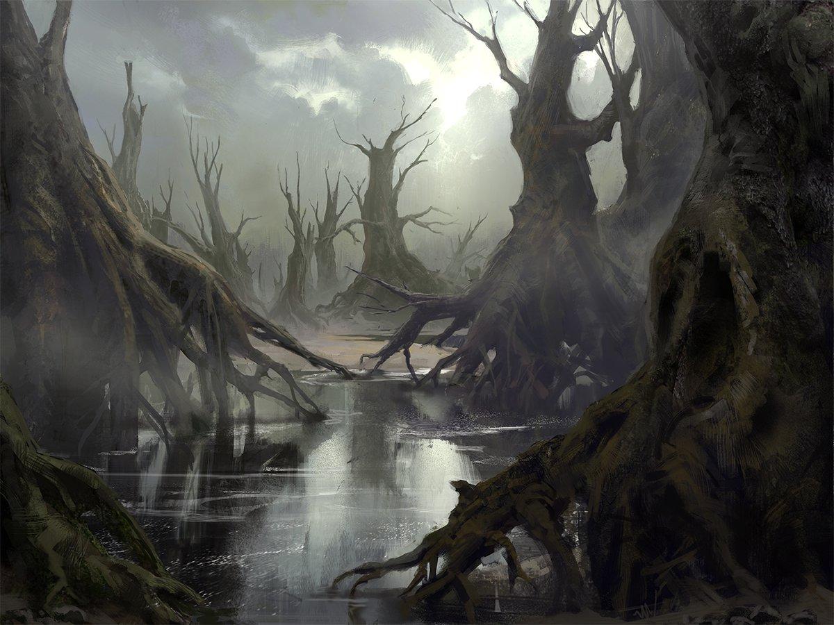 ArtStation - Swamp, Mathias Zamęcki