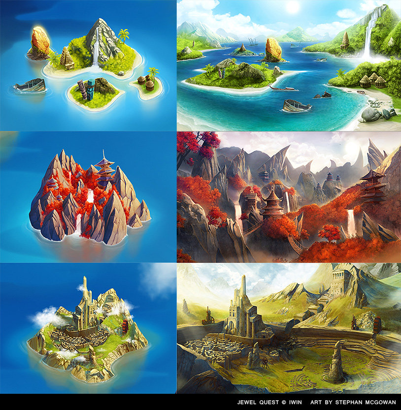 Stephan McGowan - Jewel Quest Island Maps