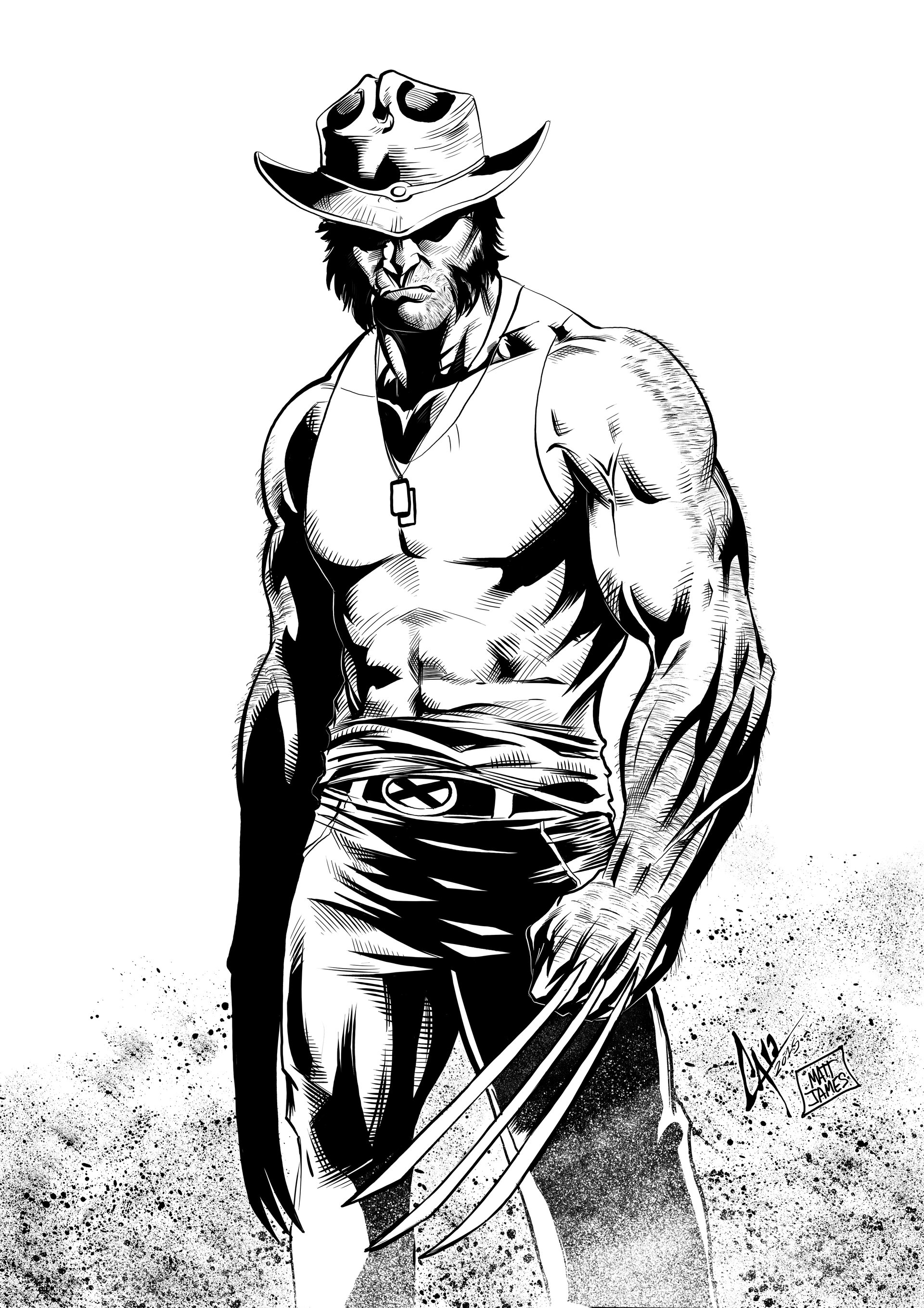 Matt james wolverine by caiomarcus art d8wv6h2