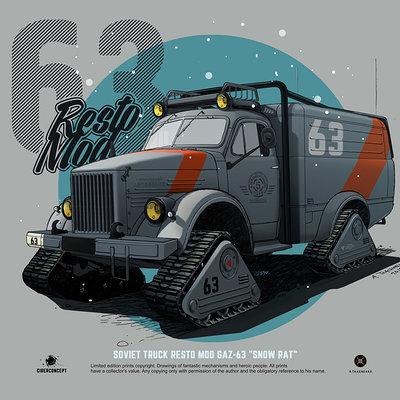 Andrey tkachenko gaz63 restomod snow rat