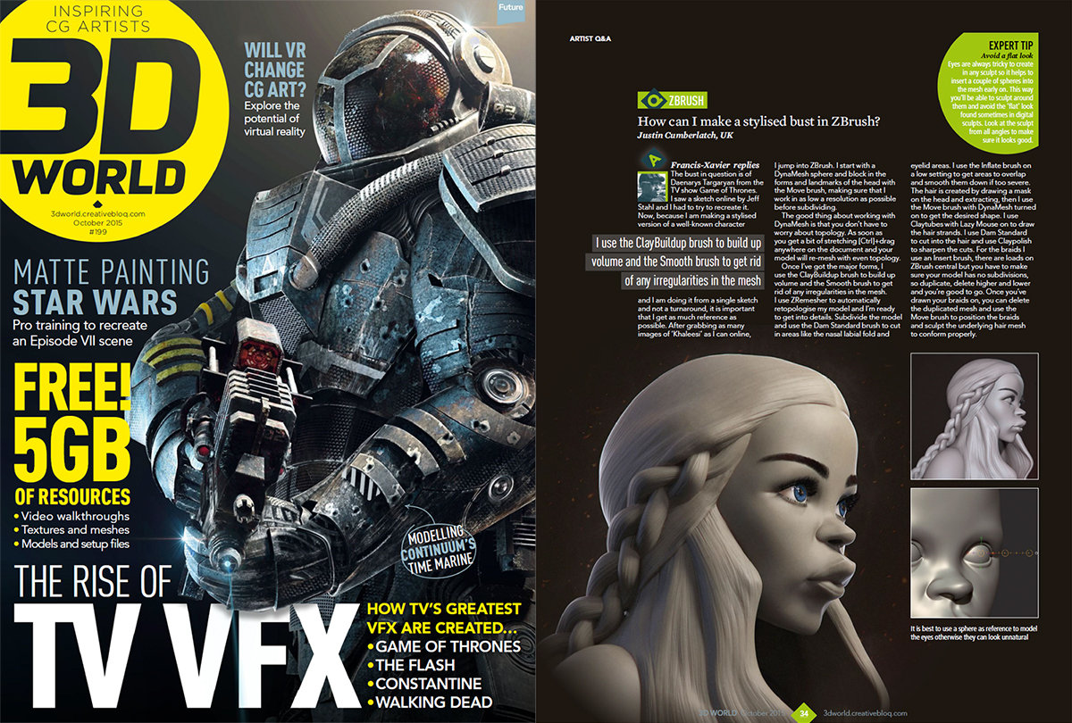 An article I wrote for 3D World Magazine #199
