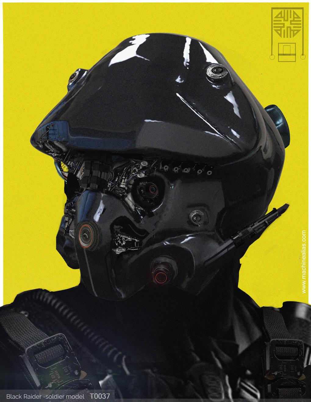 Black Raider- Soldier Model T0037