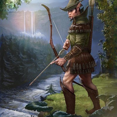Matej kovacic elf the deer hunter by matej kovacic