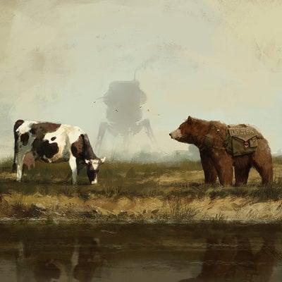 Jakub rozalski wojtek cow