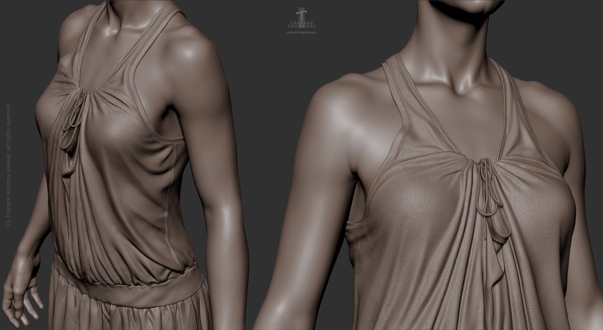 Tushank k jaiswal anatomy study female clothing close ups 1