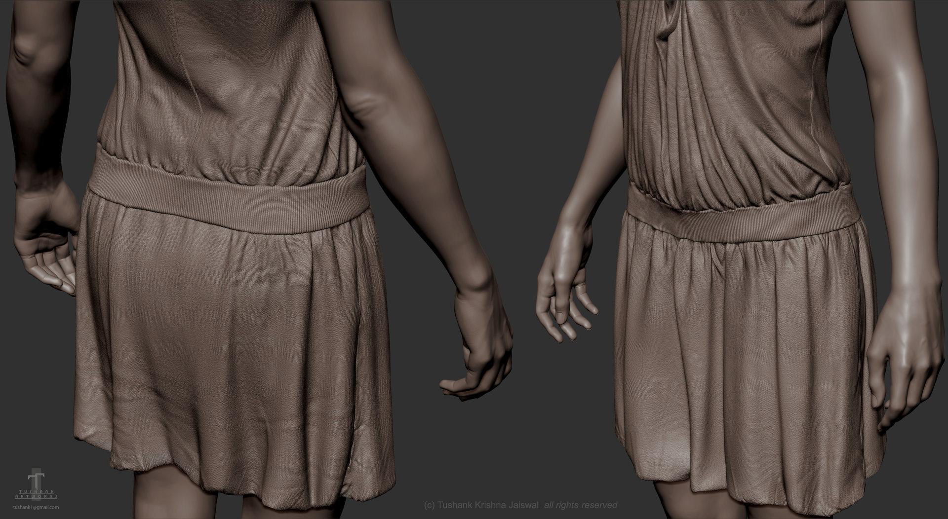 Tushank k jaiswal anatomy study female clothing close ups 2