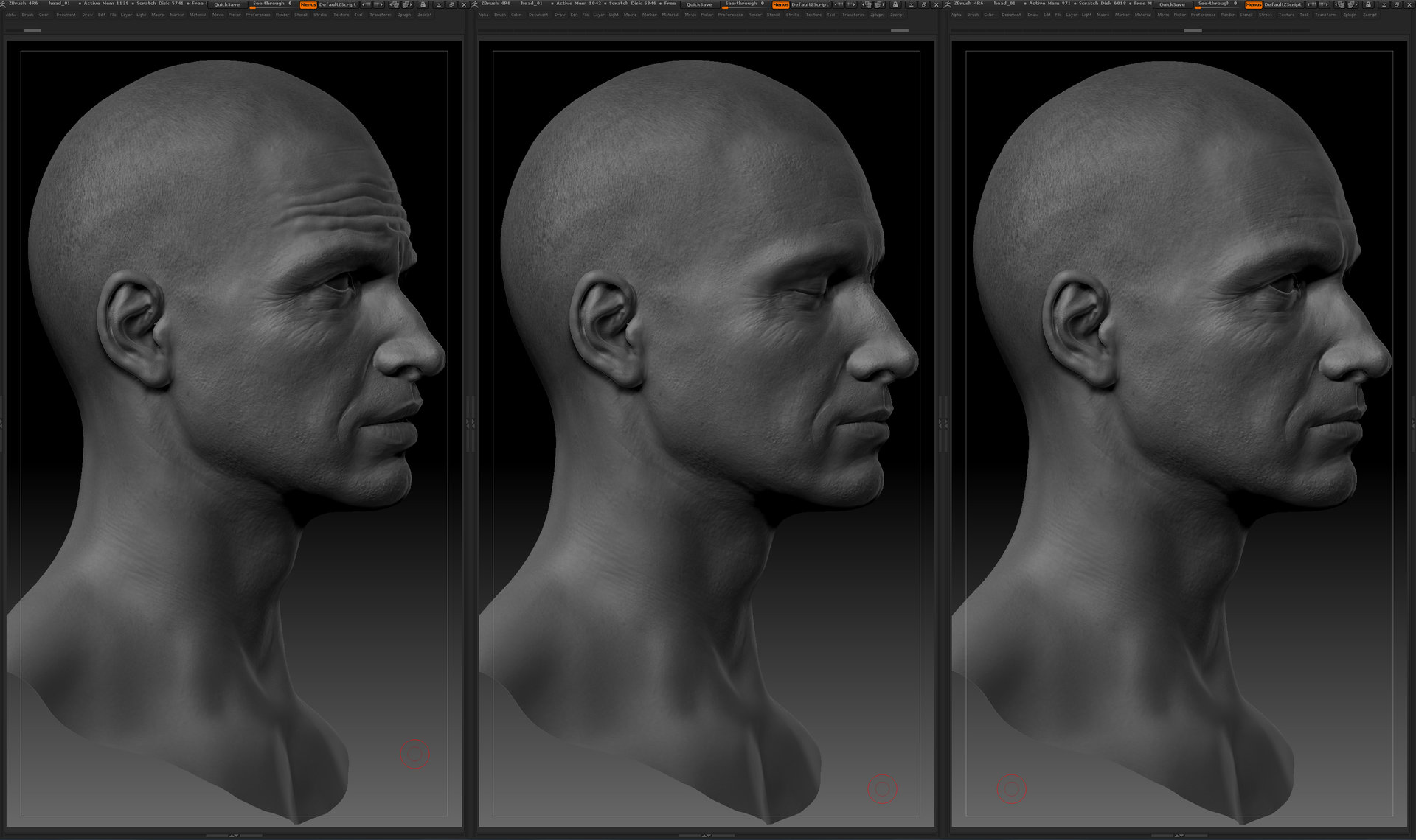 Ui joo moon head zbrush02