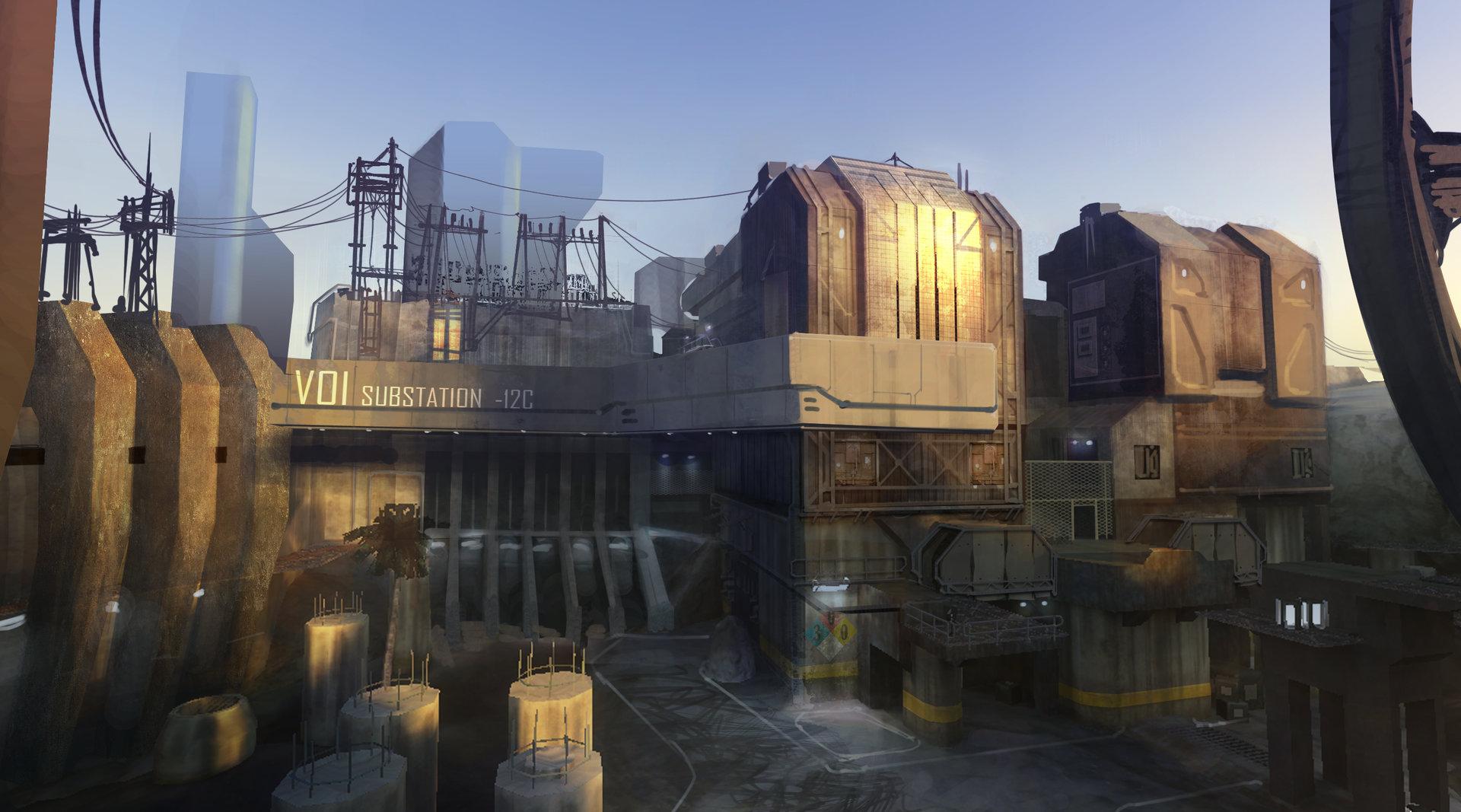 ArtStation - Halo 3 Zanzibar multiplayer map concepts, Isaac