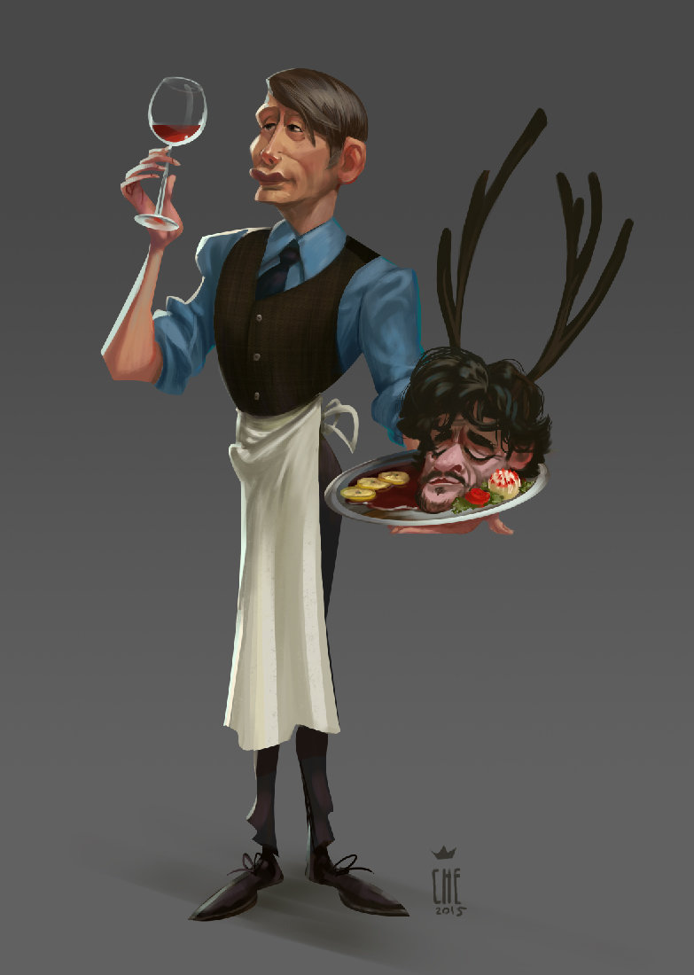 Dont play with your food if you are not Hannibal Lecter! This is my character based on tv series Hannibal with Mads Dittmann Mikkelsen. He is cold as fish, elegant as lion and dangerous as toxic snake.
