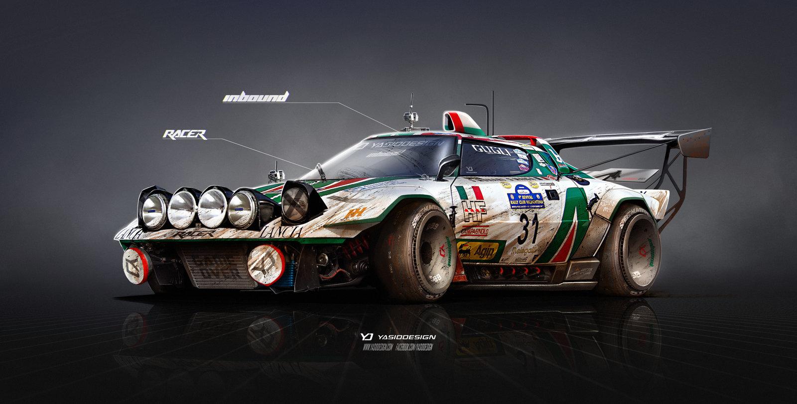 Lancia Stratos on Steroids Inbound racer