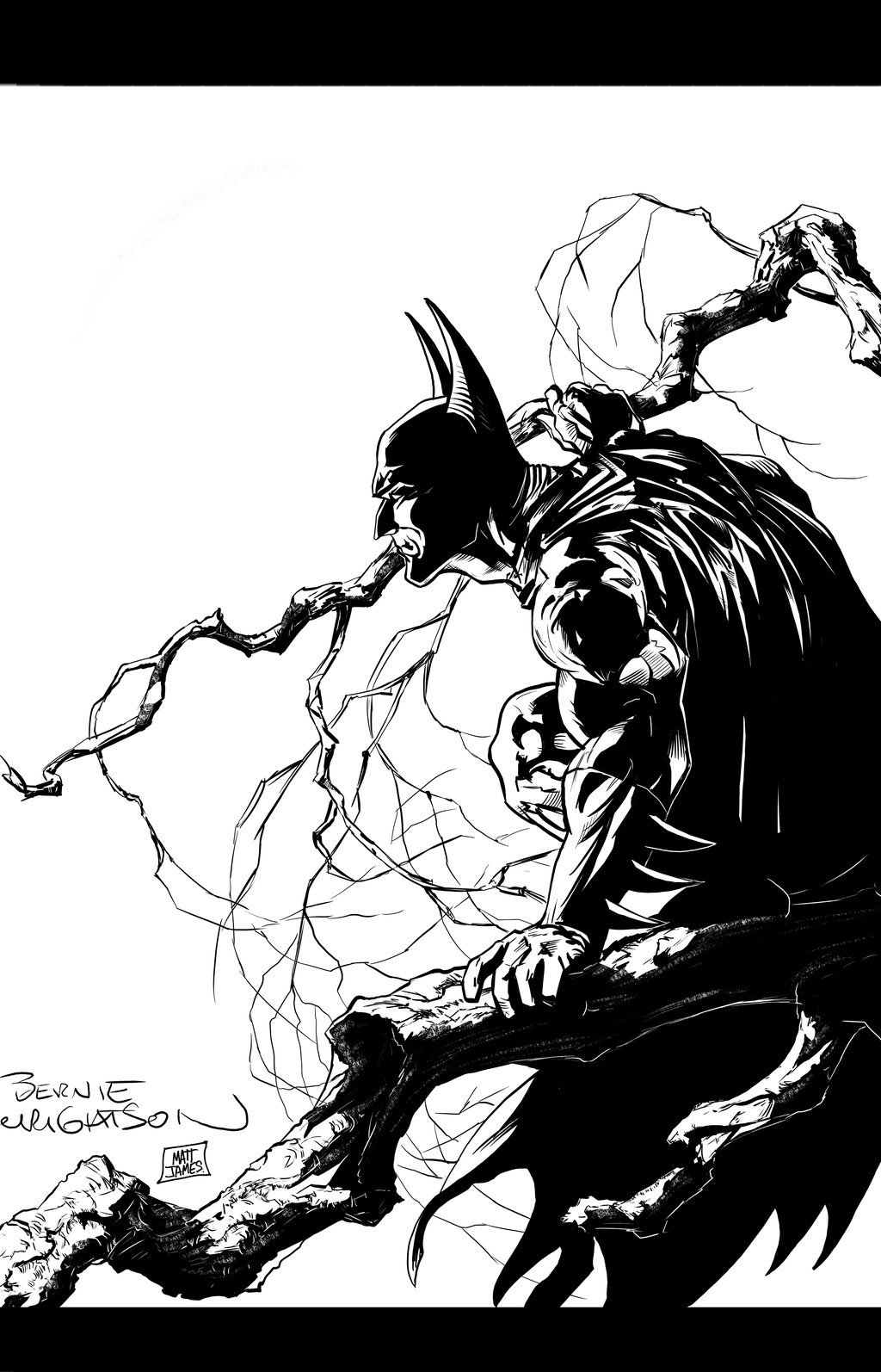 Matt james bernie wrightson batman by mattjamescomicarts d8e6h48