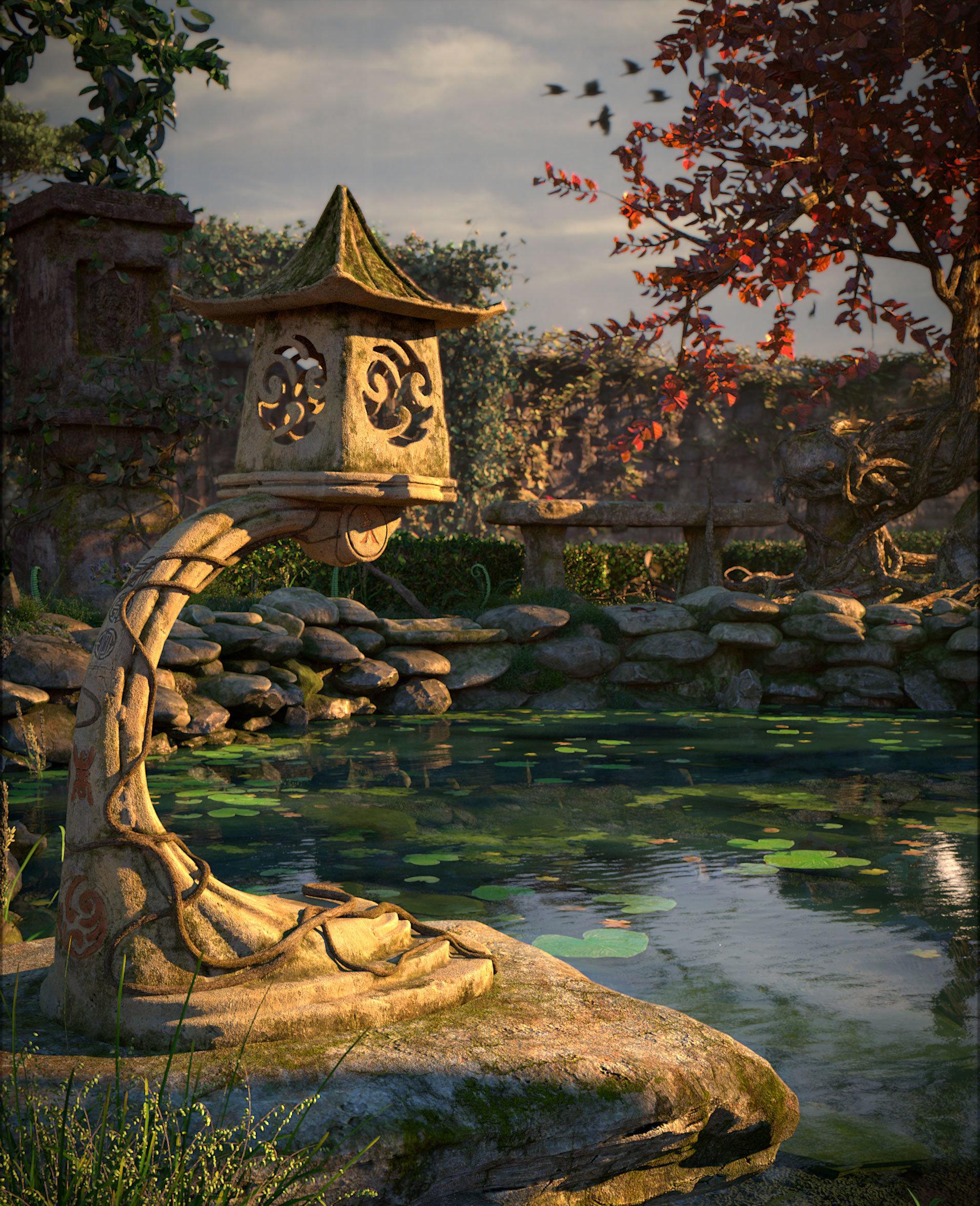 Koushik routh koi pond v03 lamp