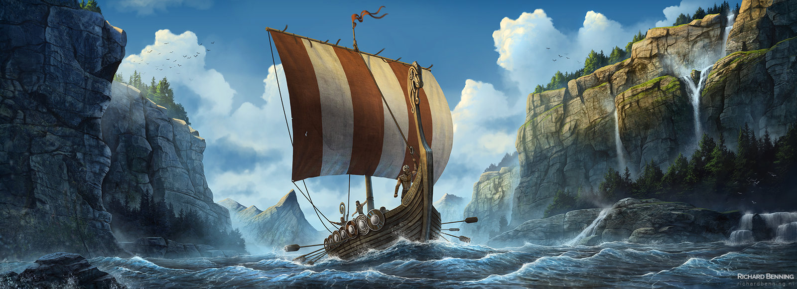 ArtStation - Viking longboat, Richard Benning