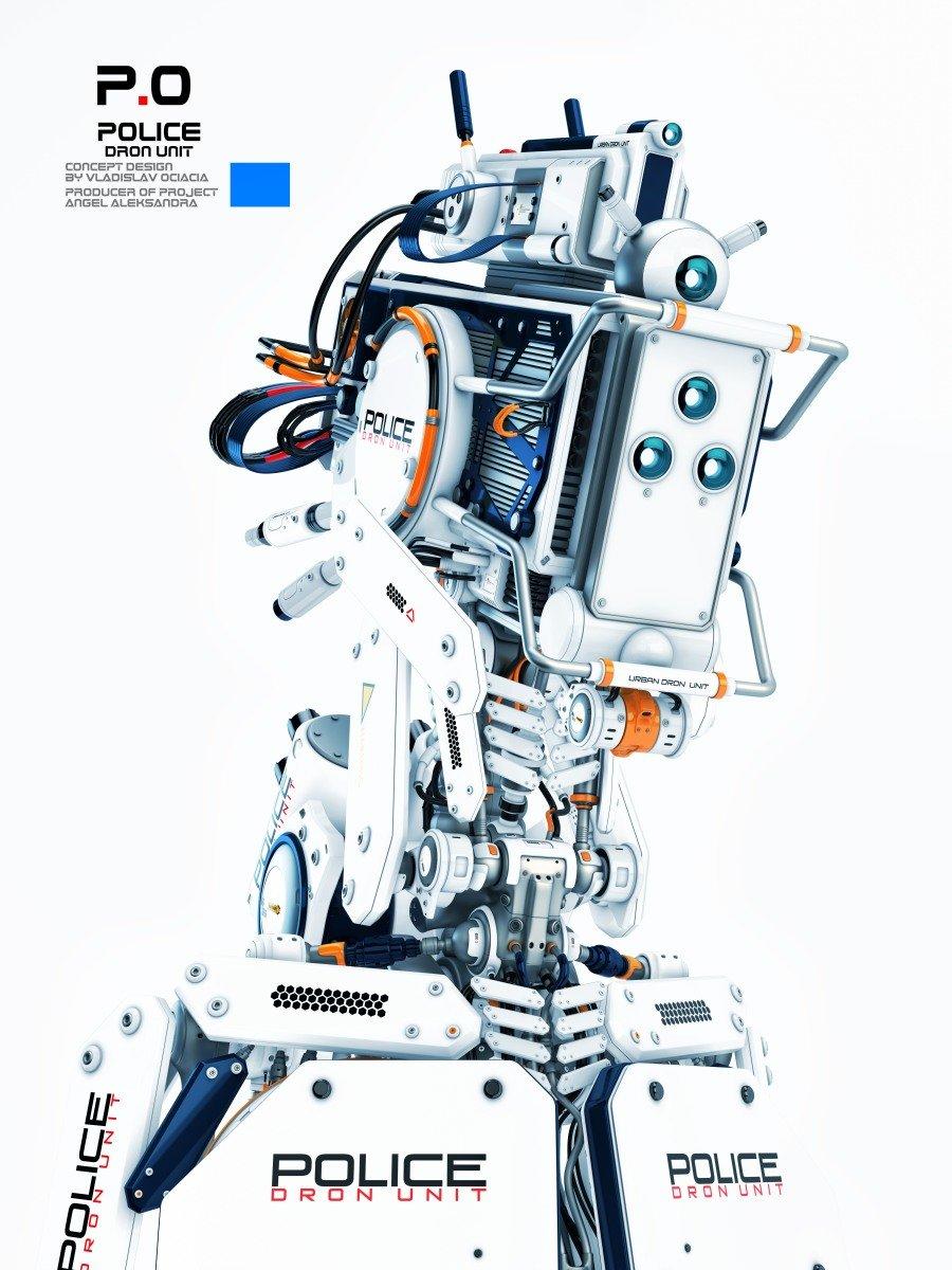Vladislav ociacia futuristic robot police man 5