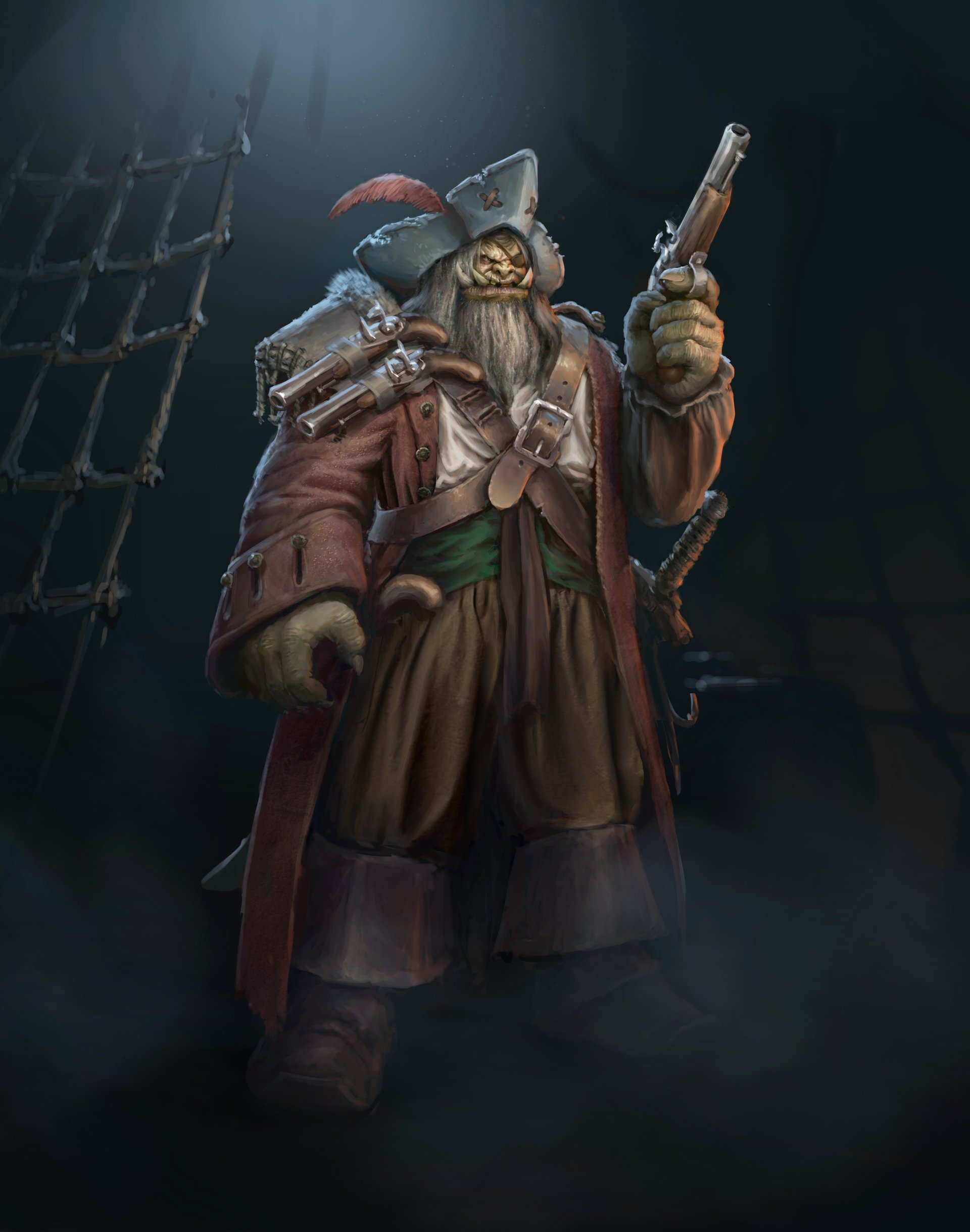 Orc Pirate Captain