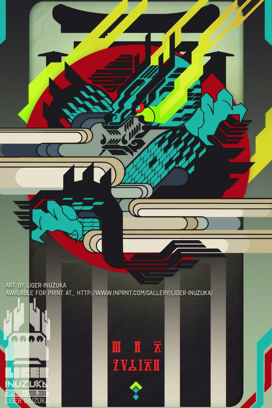 Liger inuzuka flux virtus graphic poster v2 ready for upload