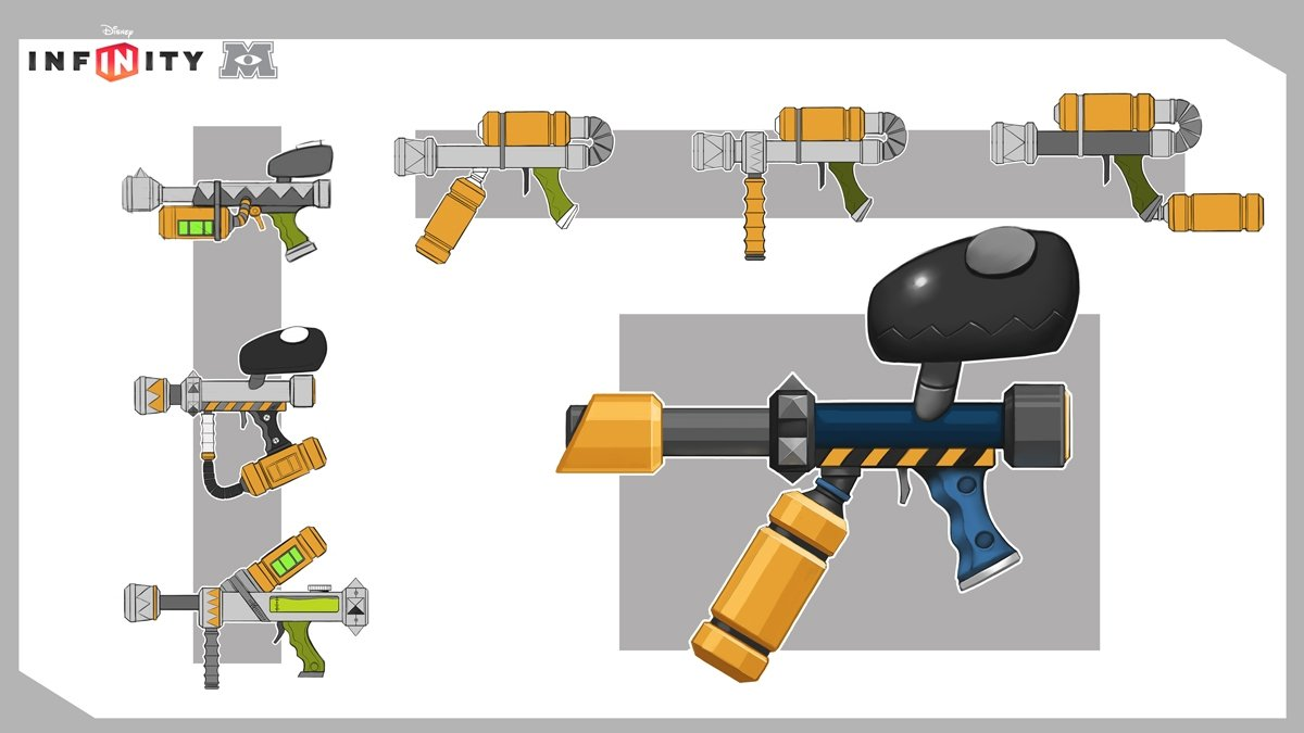 "The ""faintball"" gun from Monsters University"