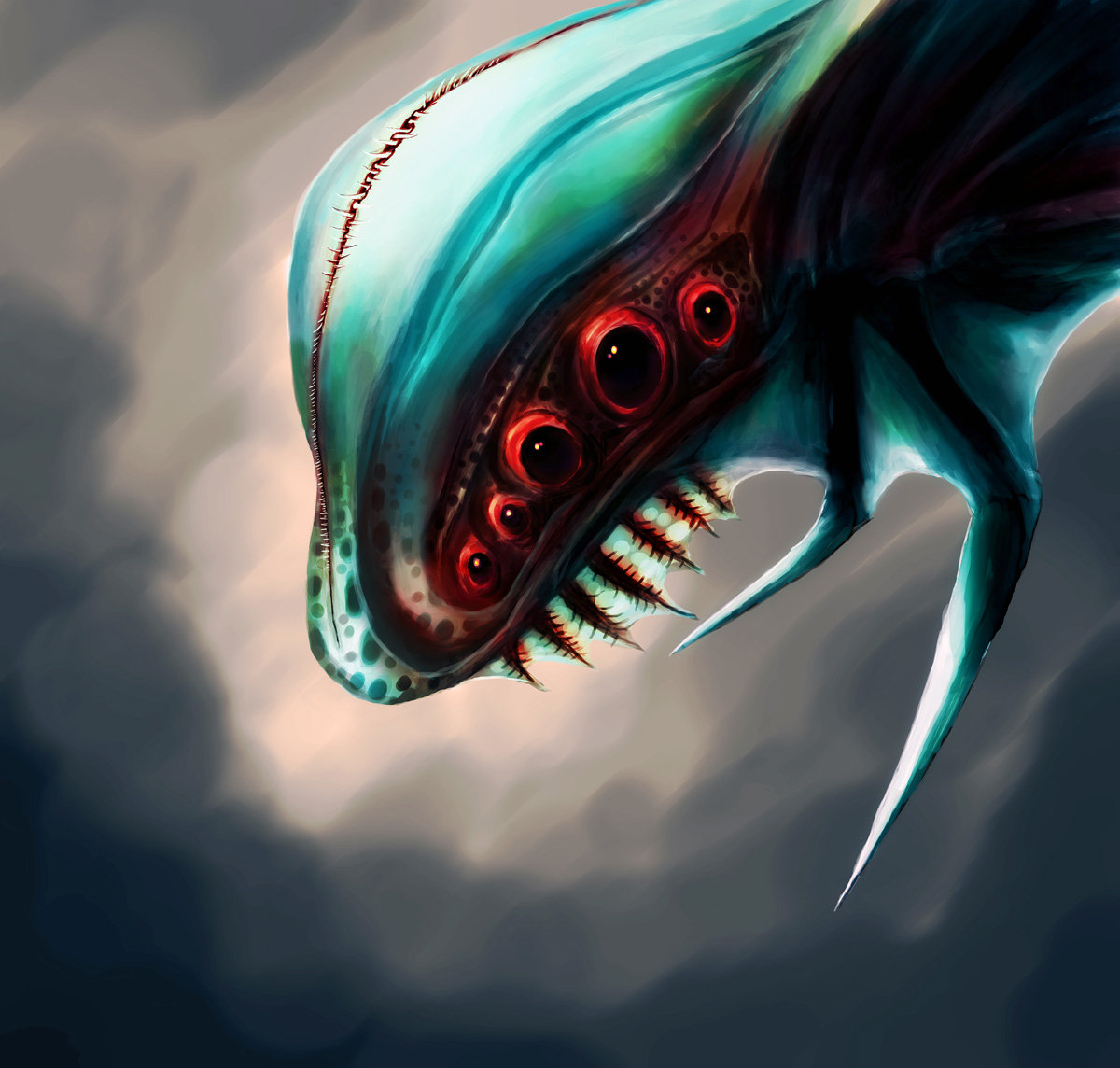 Orm irian creature head by catharina wendland