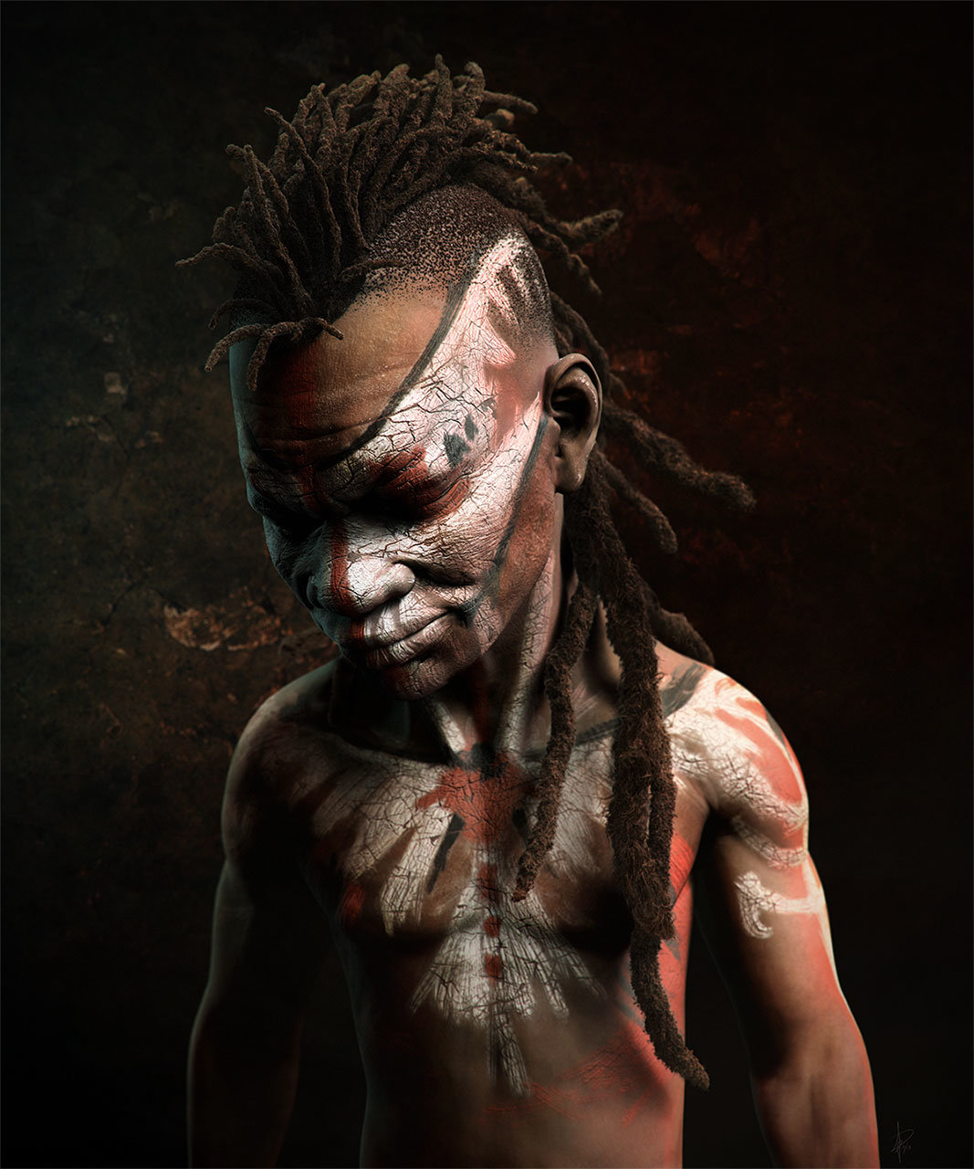 Pablo munoz gomez dreadlocks warrior colour