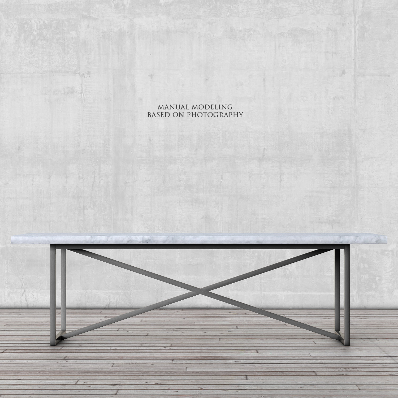 Restoration Hardware Torano Marble Rectangular Dining Table
