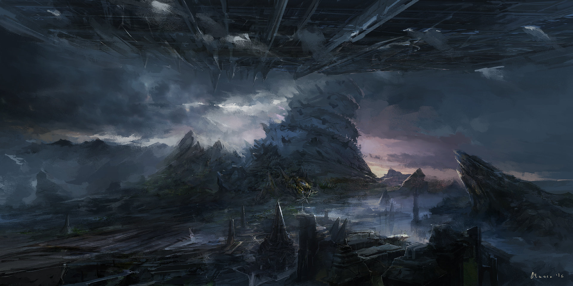 Sergey musin sci fi landscape