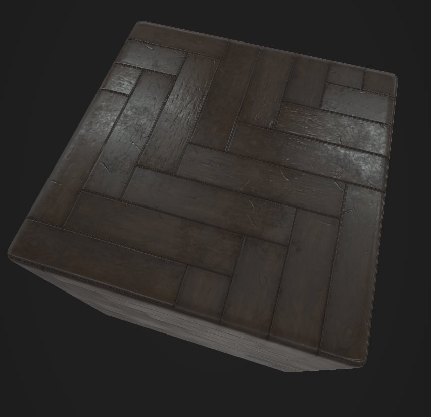 Fully procedural - PBR wood pattern, scratches, tiles...