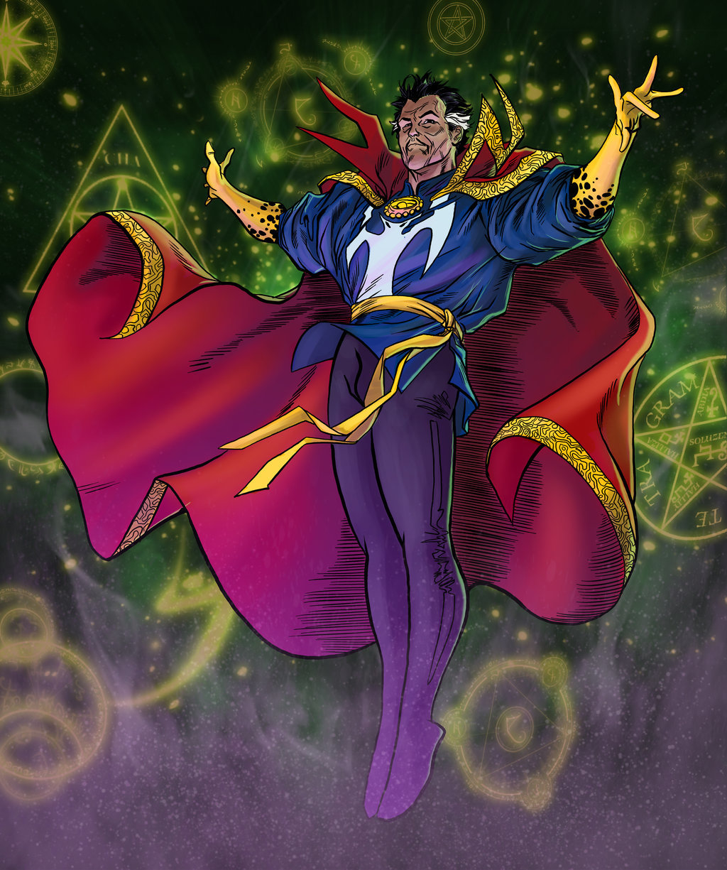 Matt james doctor strange by mattjamescomicarts d8a4y1z