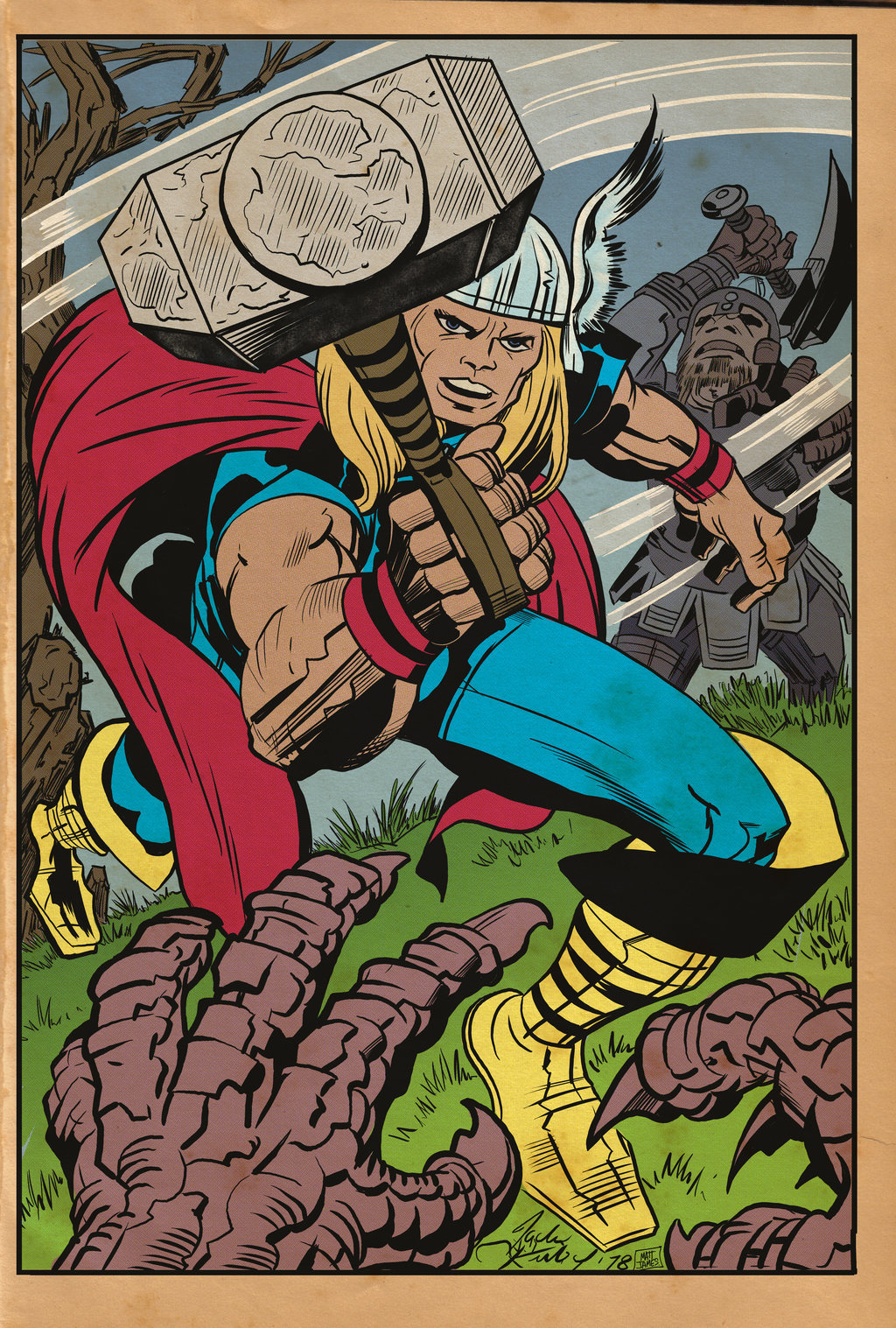 Matt james thor god of thunder by mattjamescomicarts d8865g3