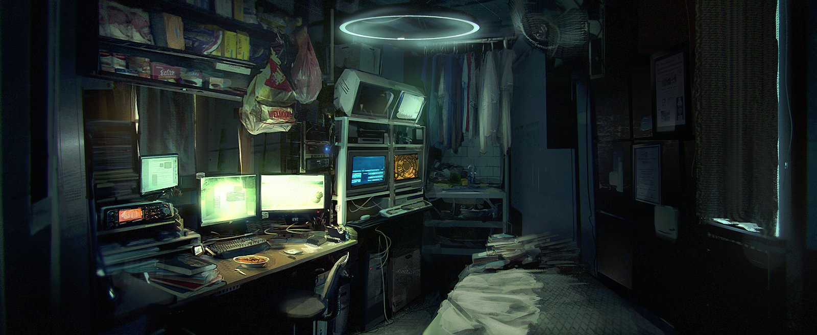 Artstation Hacker 39 S Apartment Liam Reid