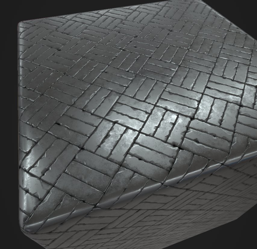 Fully procedural Basket Weave floorboard generator (applied to a simple stone floor material)
