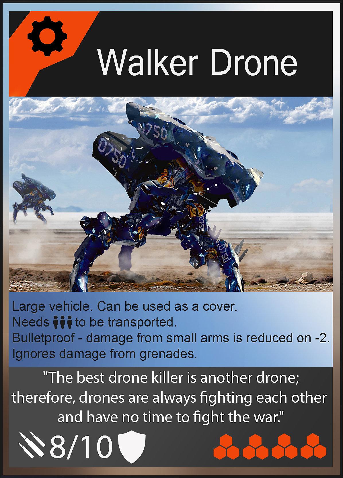 Oleg danilenko walker drone card by olegdaniel d84rhhz