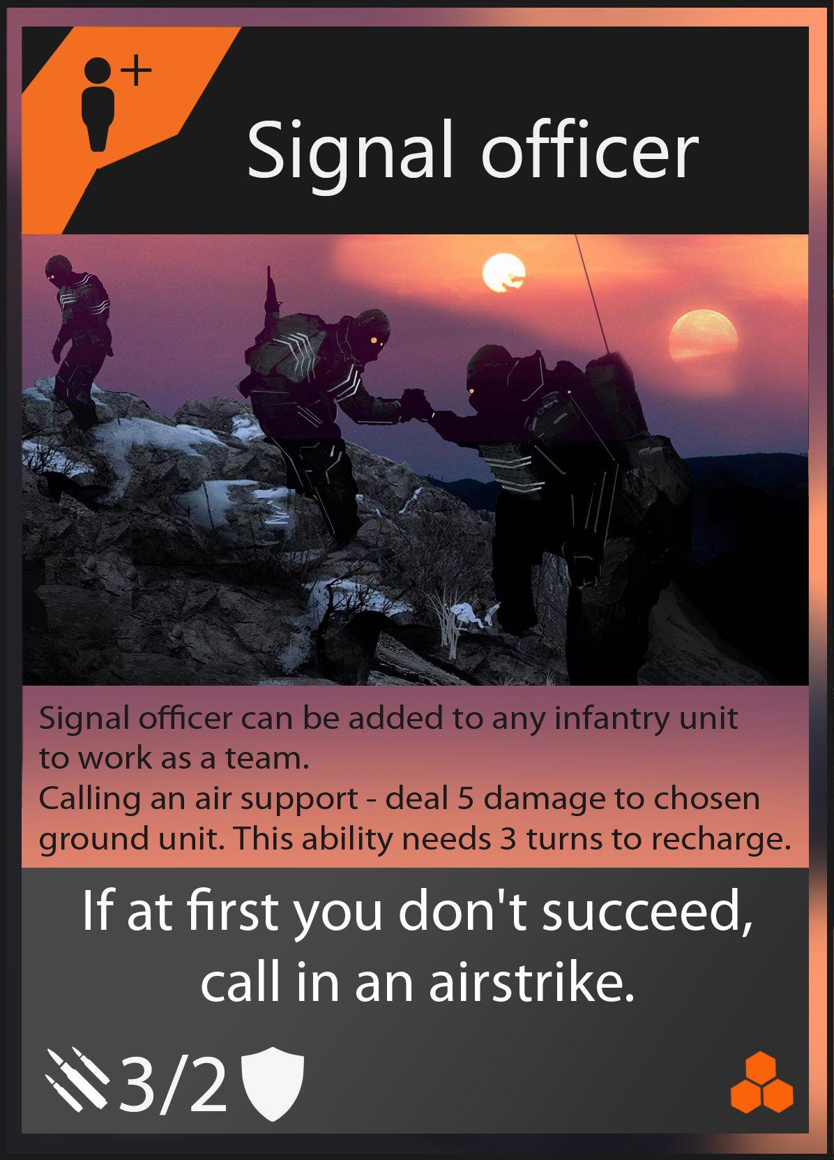 Oleg danilenko signal officer card by olegdaniel d84k40q
