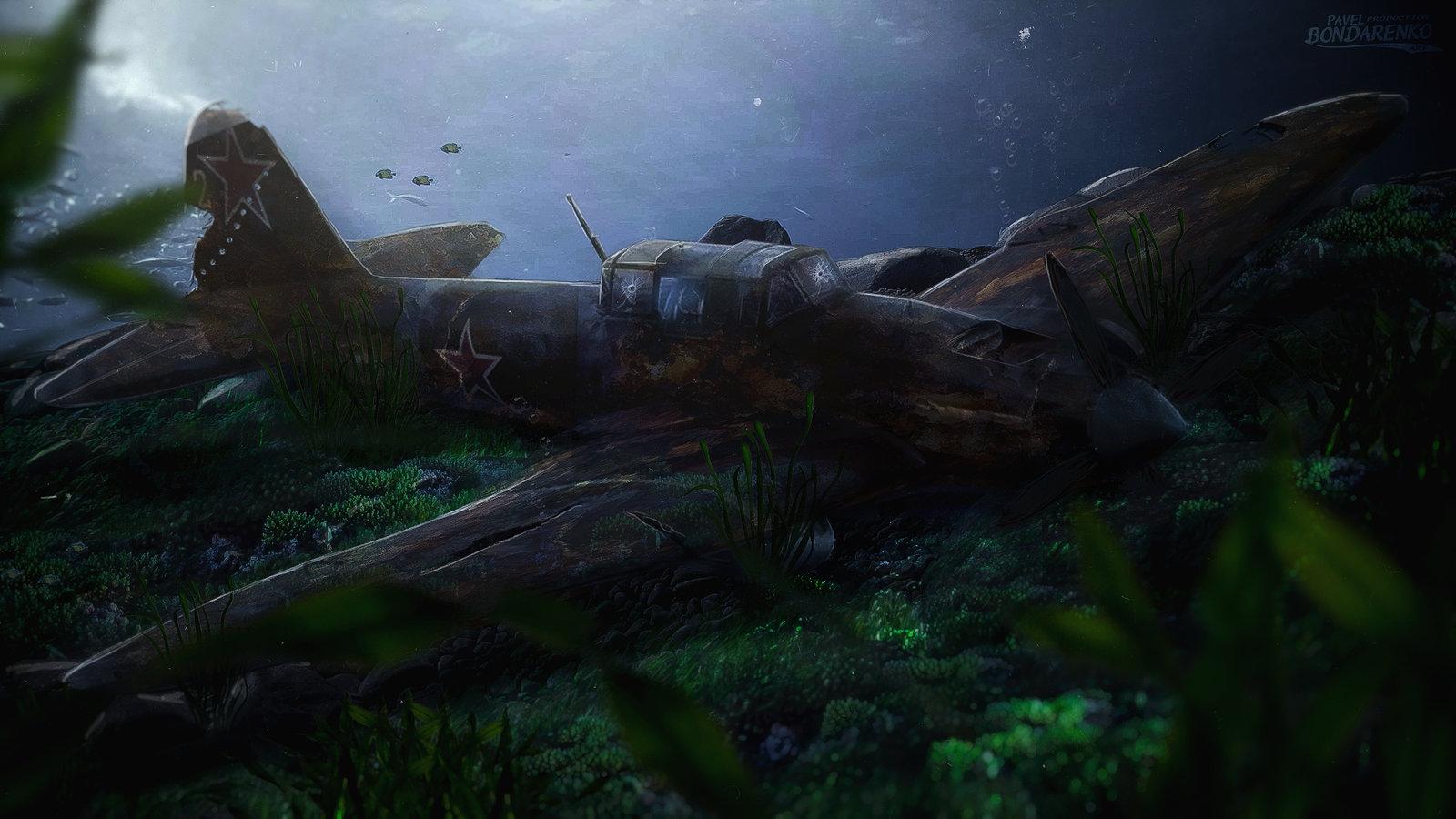 Затонувший ИЛ-2