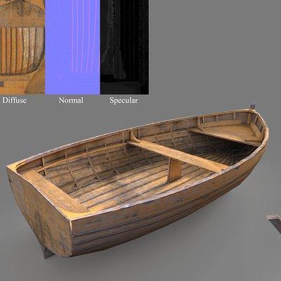 100rab kumar wooden boat