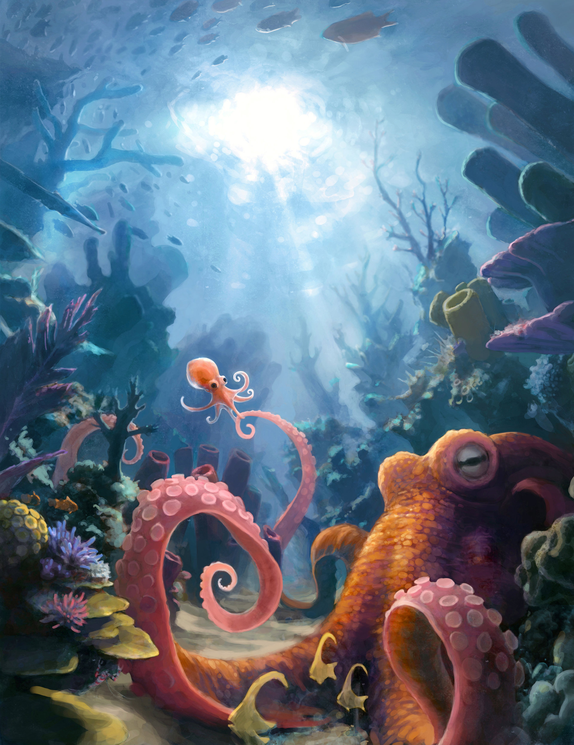underwater paintings artwork - 736×954