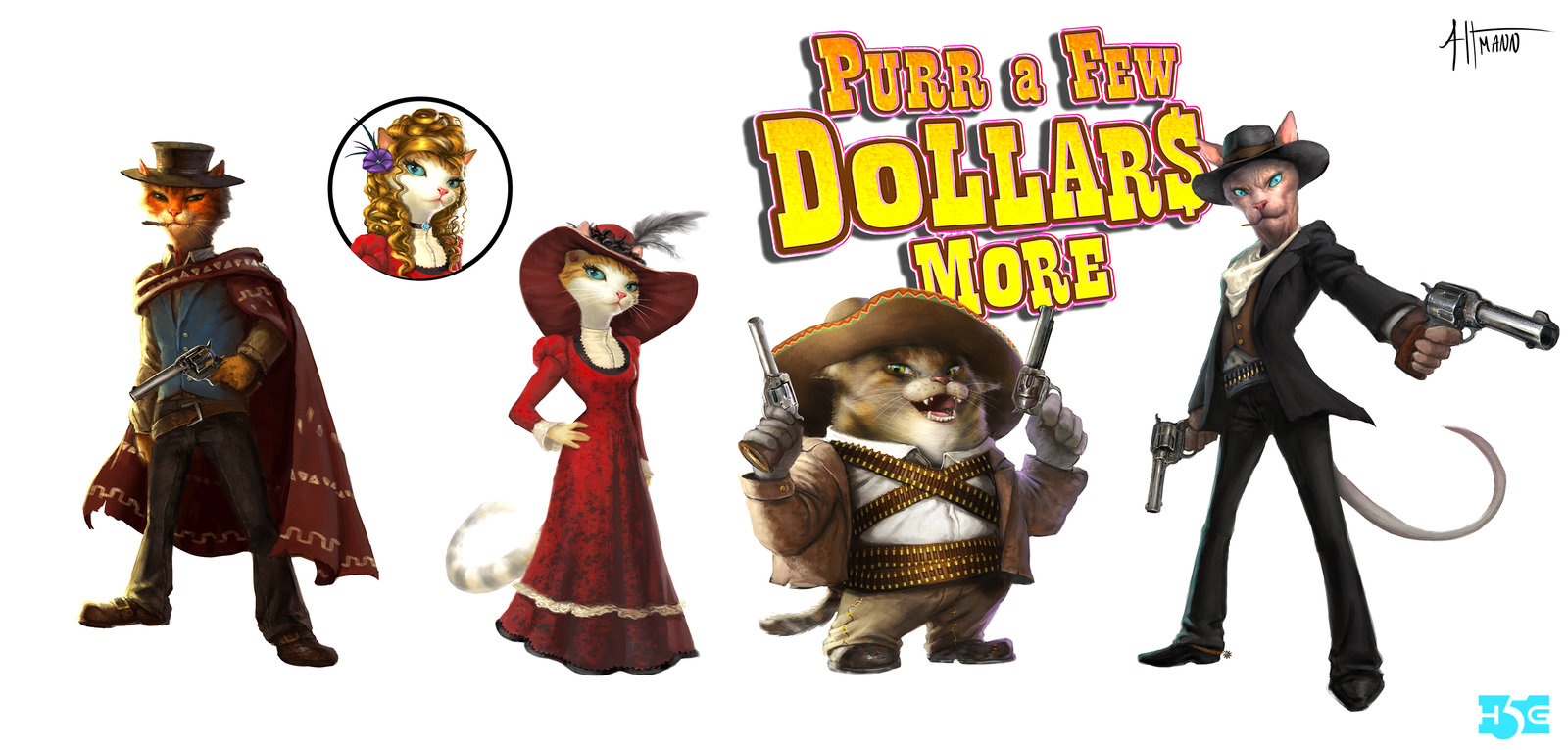 Cat Western-Character Concepts