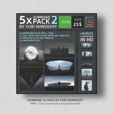 Yuri shwedoff 5 pack template announce copy