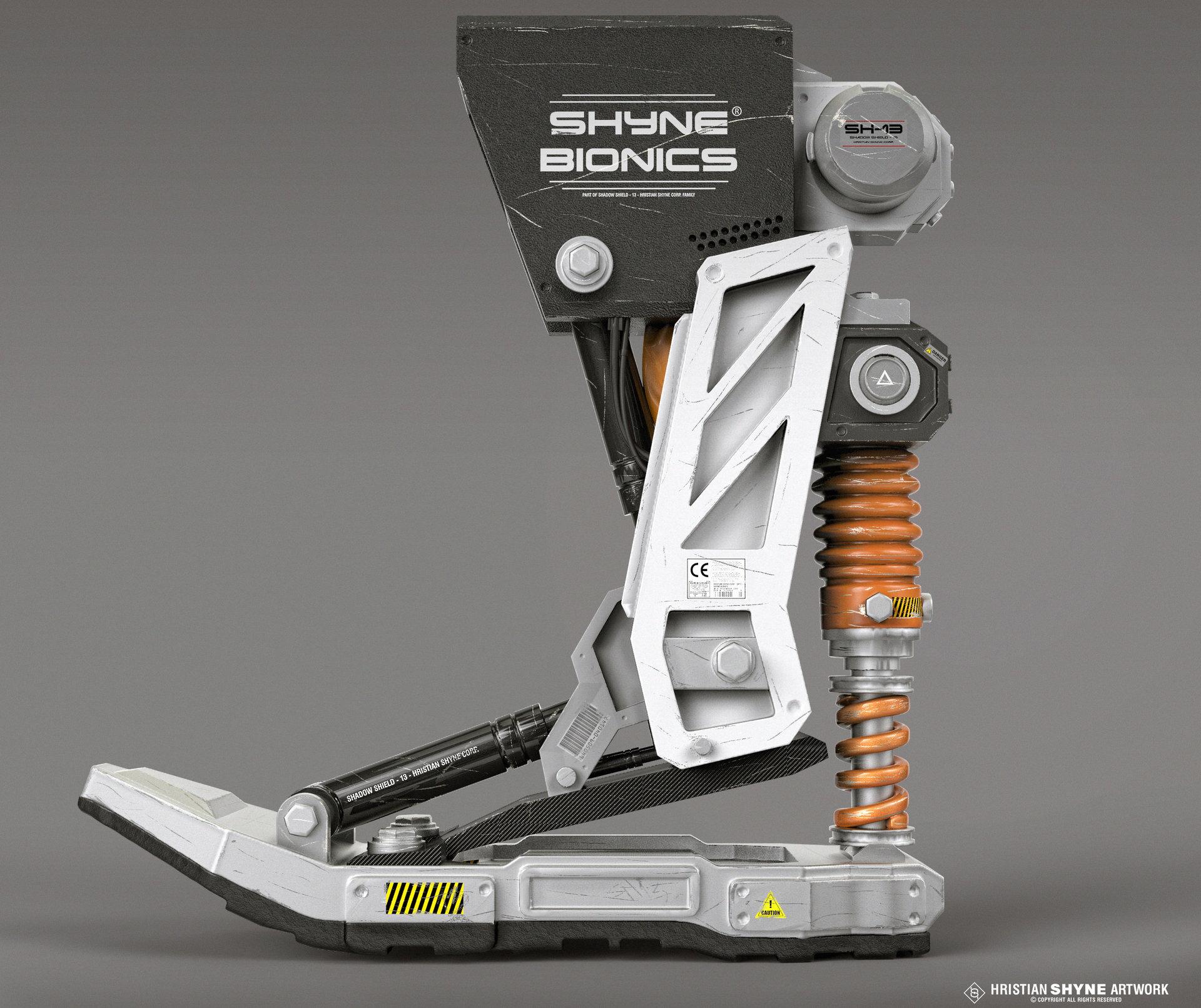 Artstation Bionic Foot Hristian Ivanov Shyne