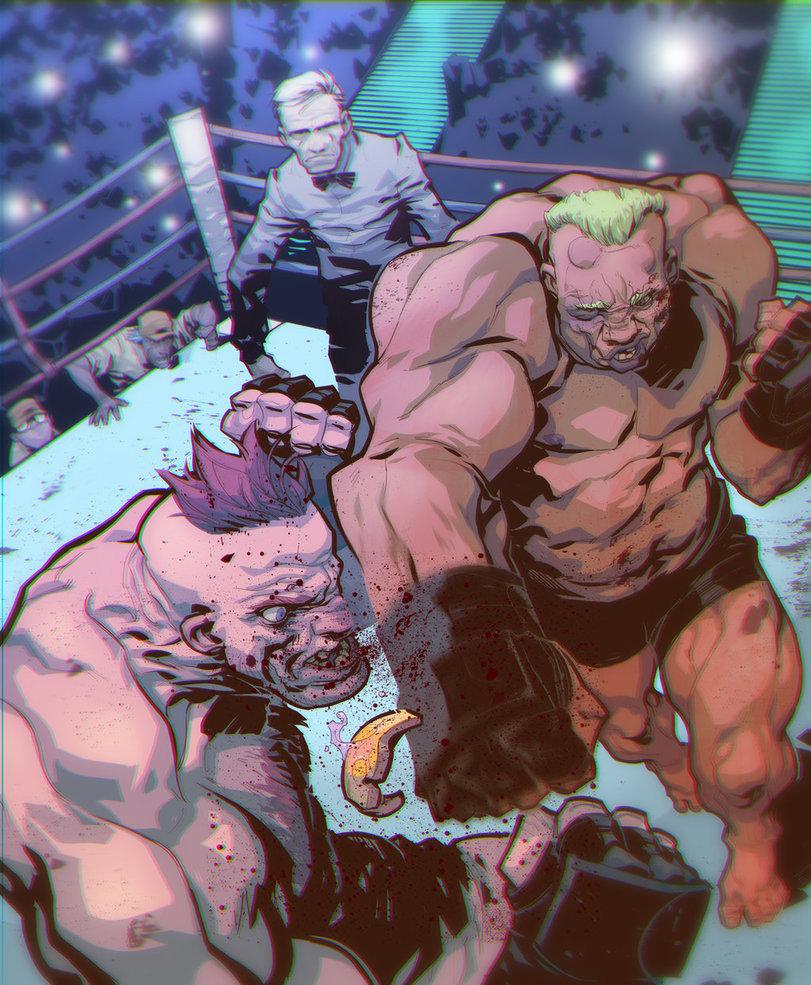 Eduard petrovich bull fight by edjubey d86bur0