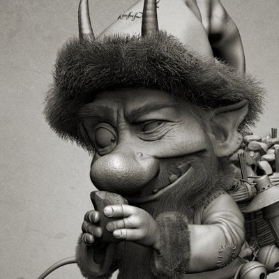 Billy lord krampus final sculpt front