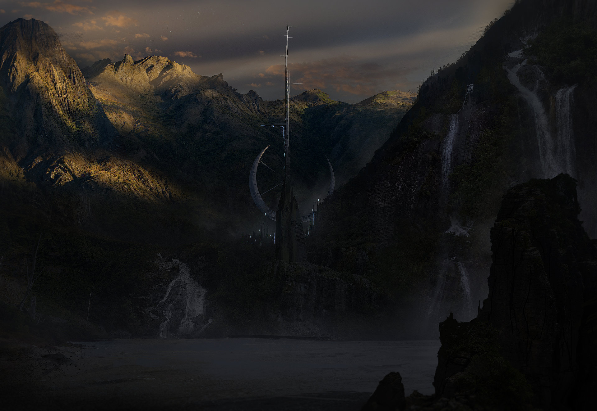 Holger schulz scifi landscape 2