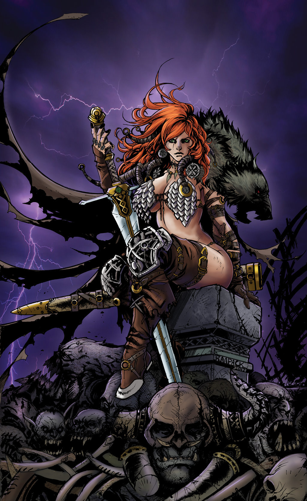 Matt james red sonja queen of steel by mattjamescomicarts d7z7nvo